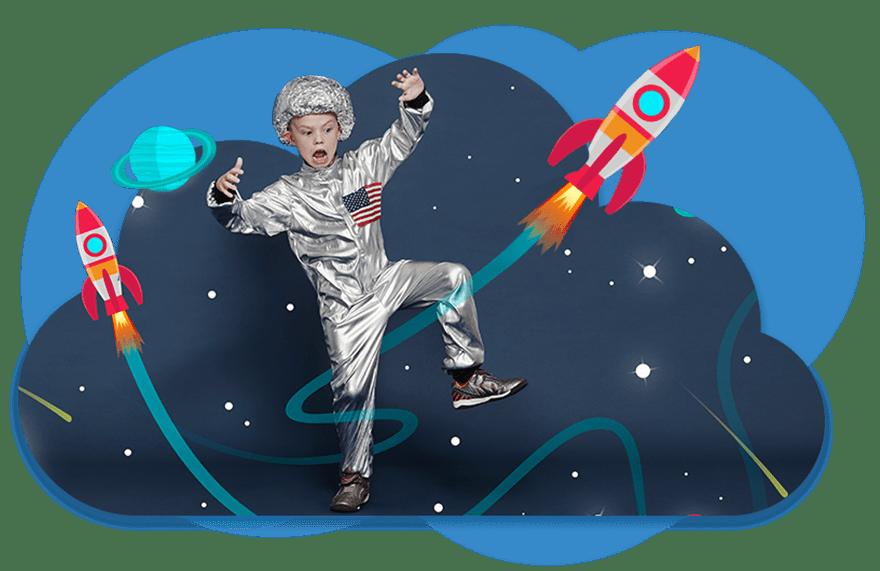 dziecko astronauta